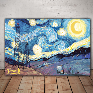 Texas Starry Night Canvas Prints (version B)