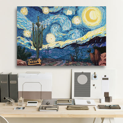 Texas Starry Night Canvas Prints (version A)