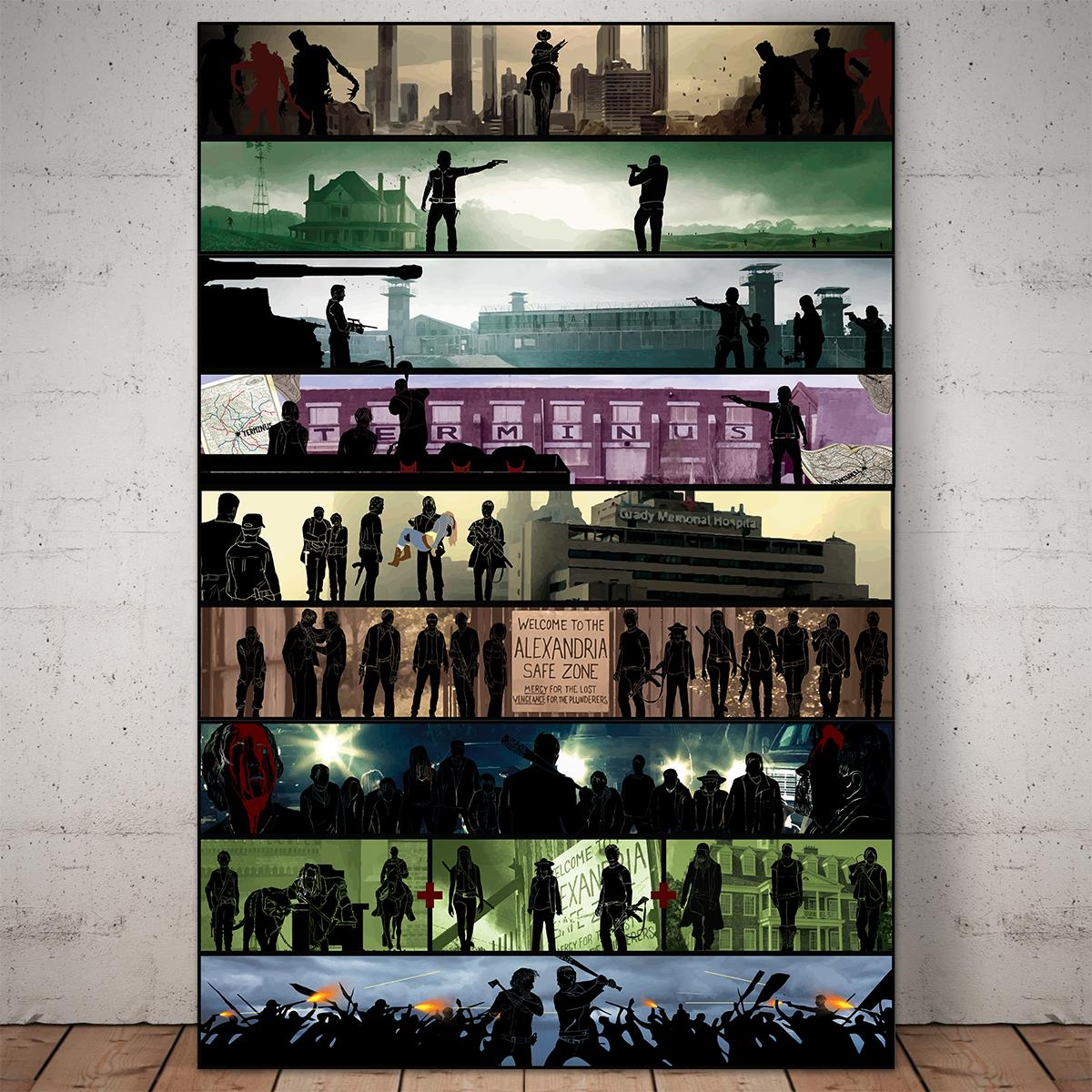 Walking Dead Collection Framed Canvas Prints (New version)