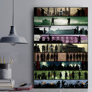 Walking Dead Collection Framed Canvas Prints