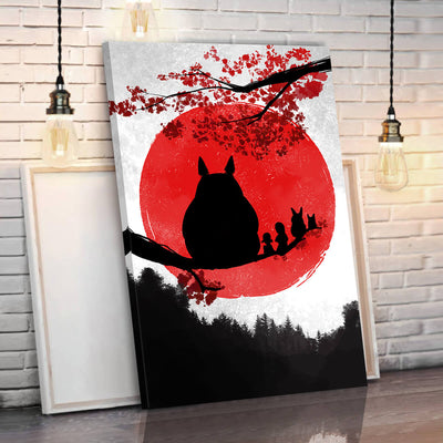 Totoro Eastern Style Canvas Wall Art