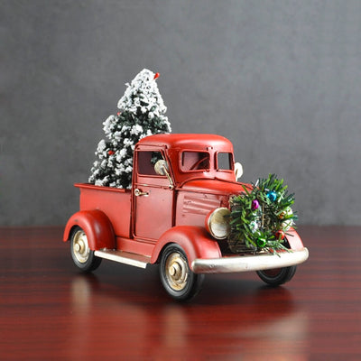 Truck with Christmas Tree Vintage Model