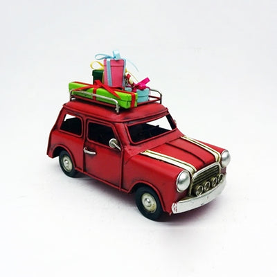 Car with Christmas Gifts Vintage Model