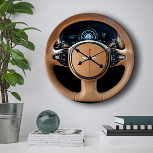 Aston Martin Steering Wheel Wall Clock