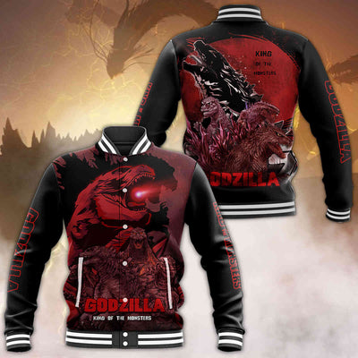 Godzilla All Over Print Baseball Jacket