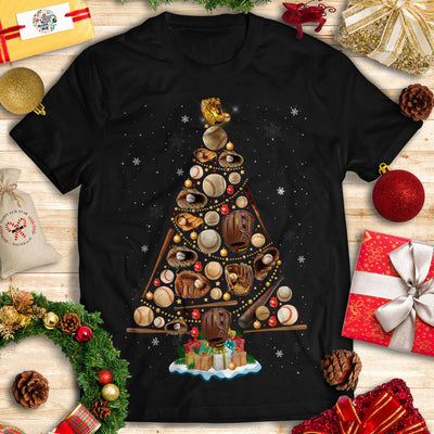 Baseball Christmas T-shirt