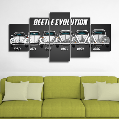 Beetle Evolution Canvas Wall Art