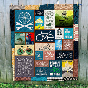 Bicycling Art Quilt