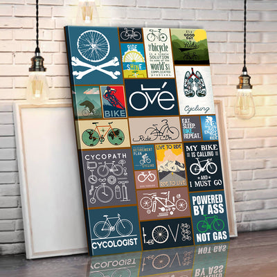 Bicycling Canvas Wall Art
