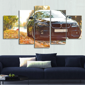 BMW 5 Series Canvas Wall Art