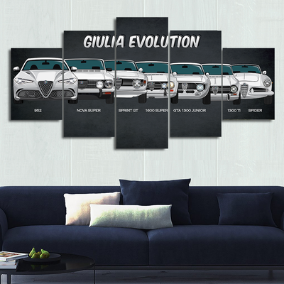 Alfa Romeo Giulia Canvas Wall Art