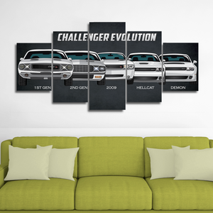 Separate Frame for Dodge Challenger Canvas Wall Art