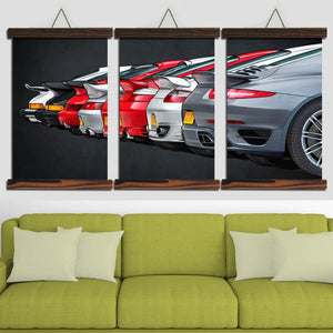 Nine-one-one Turbo Evolution Canvas Wall Art (new version)