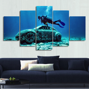 Diving Canvas Wall Art
