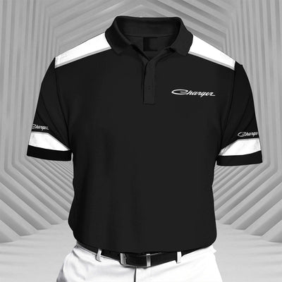Charger-RCV1 Racing Series Short Sleeve Polo T-Shirt