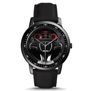 Challenger Steering Wheel Premium Leather Watch