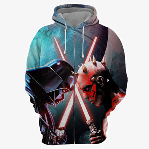 Darth Vader vs Darth Maul 3D Hoodie