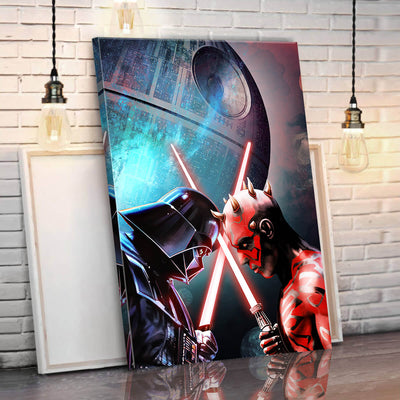 Darth Vader vs Darth Maul Canvas Wall Art