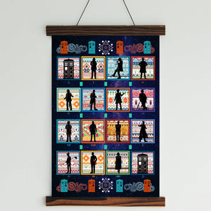 Doctor Who - 14 Doctors Canvas Wall Art