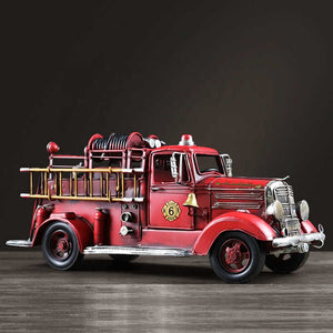 Vintage Metal Craft Fire Truck