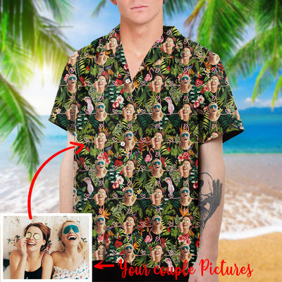 Customized Hawaiian Shirt - Personalized Shirts with Friend Couple Faces
