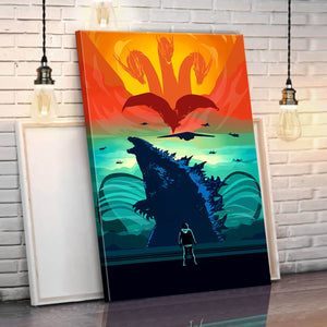 Godzilla King Of The Monsters (New) Canvas Wall Art