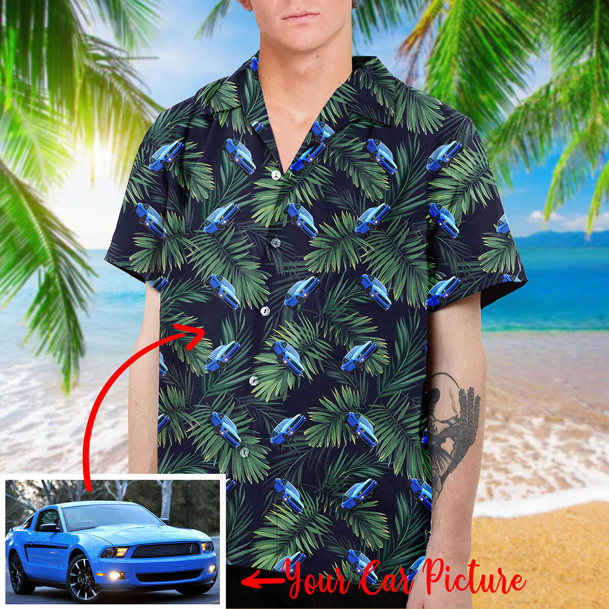 Personalized Car Collection Hawaiian Shirt and Beach Short (V.2)