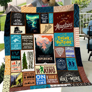 Hiking Art Quilt