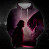 Darth vs Alien All Over Print Hoodie