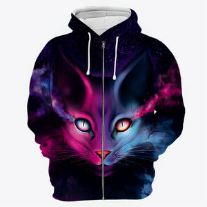 Yin Yang Cat All Over Print Hoodie