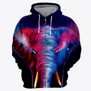 Yin Yang Elephant All Over Print Hoodie