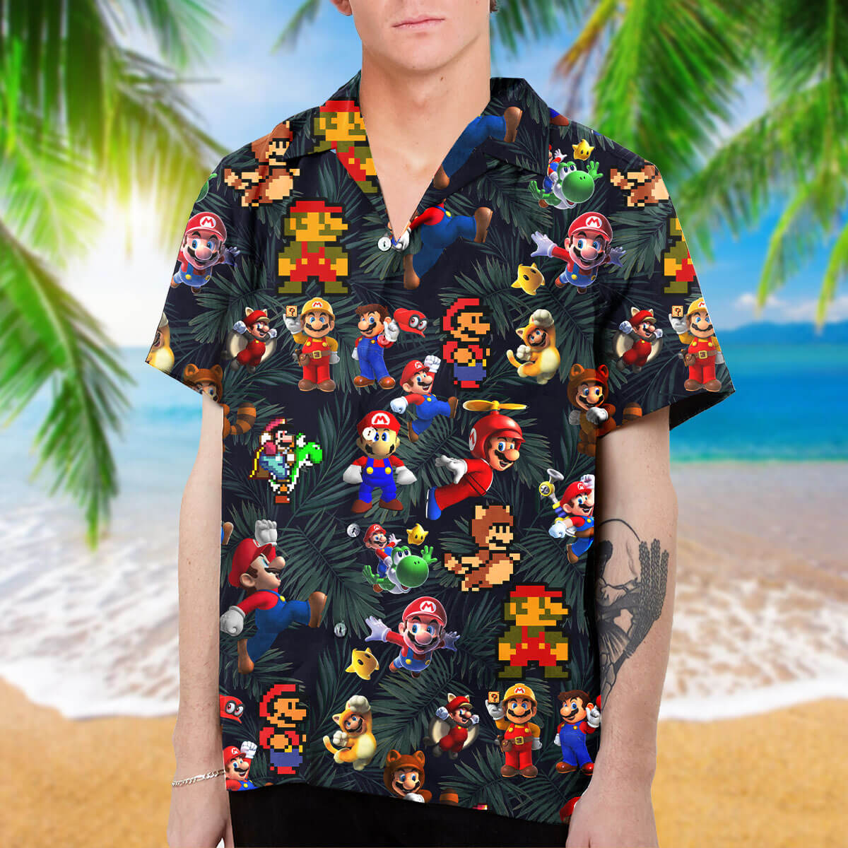 Mario Collection Art Hawaiian Shirt