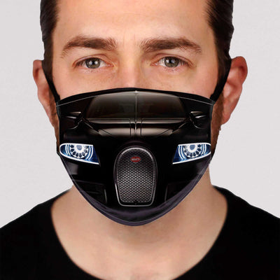 Sport Car Headlights Face Mask