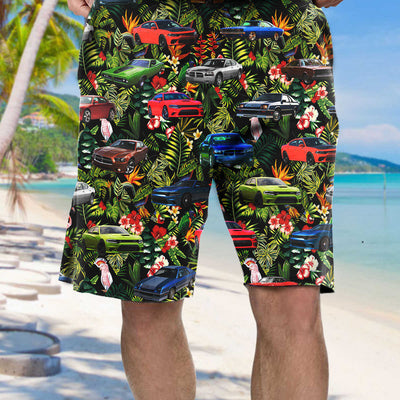 Charger Collection Art Hawaiian Shirt and Beach Short