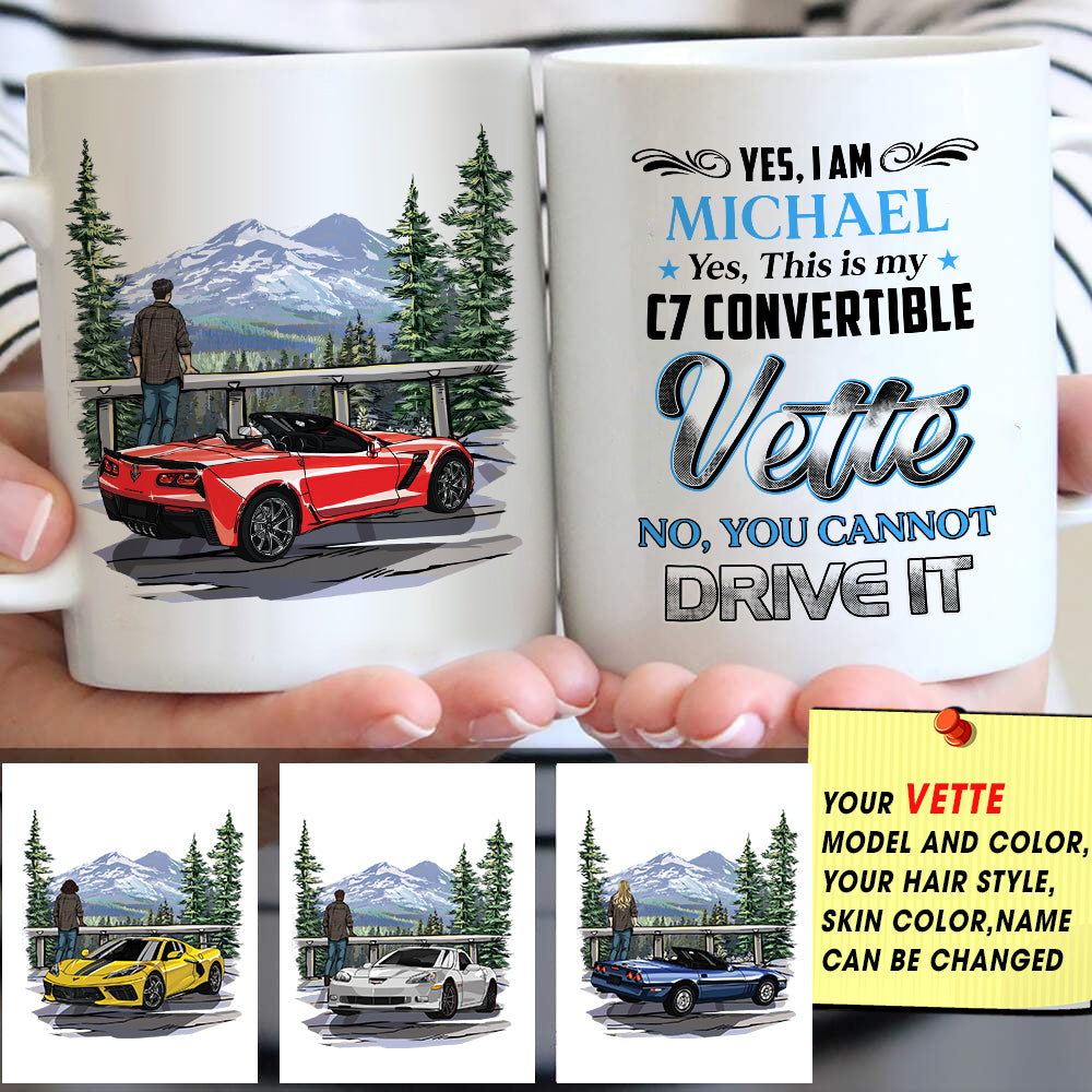 Personalized Vette Owner Art Mug