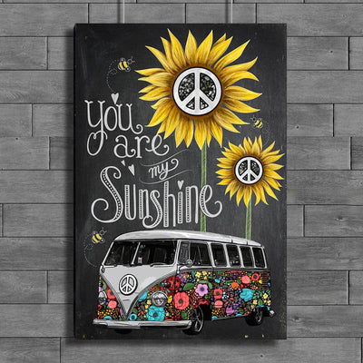 Kombi Sunshine Canvas Wall Art