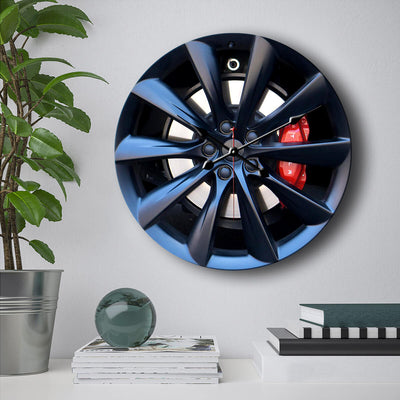 Tesla Steering Wheel Wall Clock