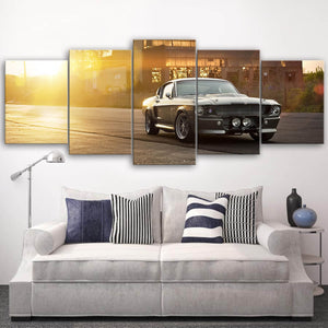 Mustang Landscape Canvas Wall Art No.9