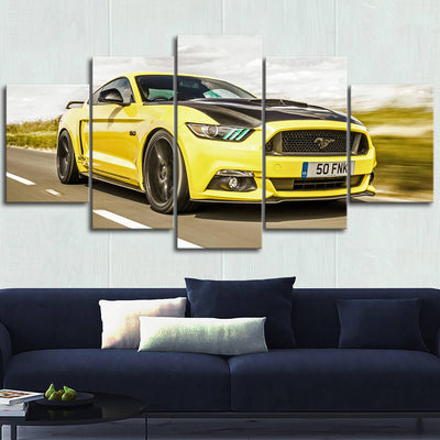 Mustang Landscape Canvas Wall Art No.10