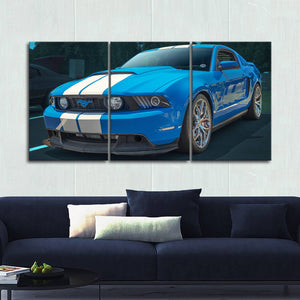 Mustang Landscape Canvas Wall Art No.11