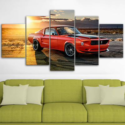Mustang Landscape Canvas Wall Art No.1