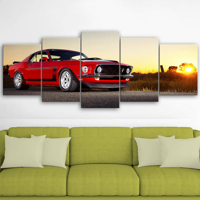 Mustang Landscape Canvas Wall Art No.2