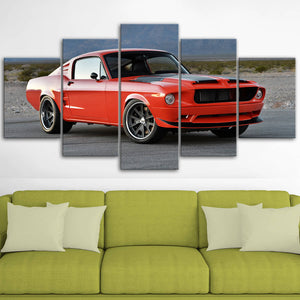 Mustang Landscape Canvas Wall Art No.3