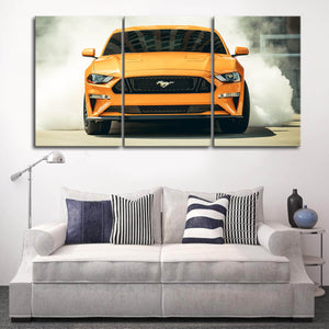 Mustang Landscape Canvas Wall Art No.4