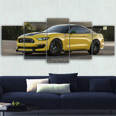 Mustang Landscape Canvas Wall Art No.5