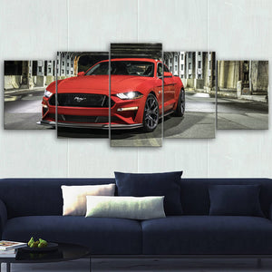 Mustang Landscape Canvas Wall Art No.6
