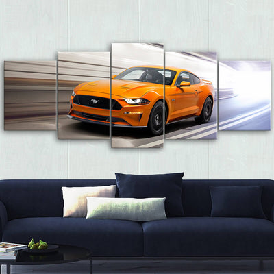 Mustang Landscape Canvas Wall Art No.7