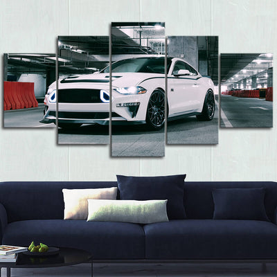 Mustang Landscape Canvas Wall Art No.8