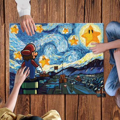 Mario Starry Night Wooden Jigsaw Puzzles