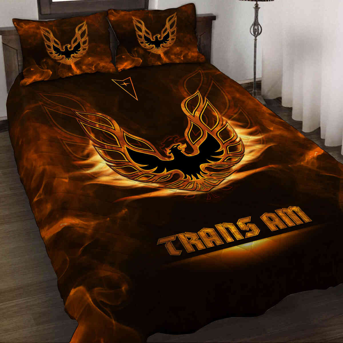 Sensational Firebird Art Quilt Bedding Set